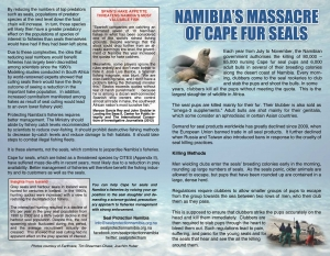 SPN Cape fur seals leaflet outside pages